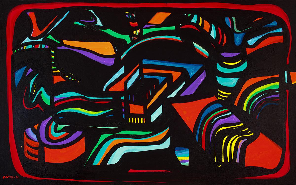 Chicago No 4 acrylic 24x30 Dick Crispo