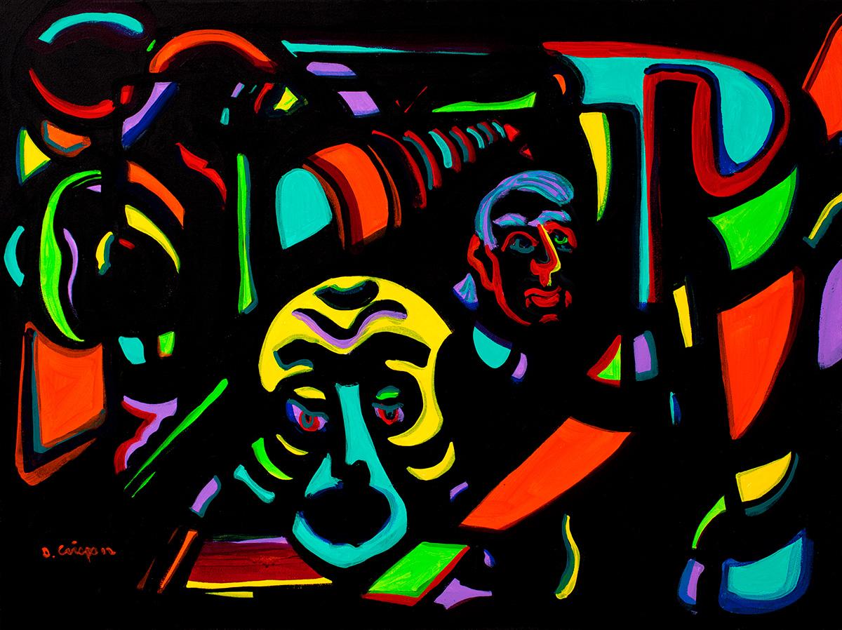 Chicago No 6 acrylic 24x30 Dick Crispo