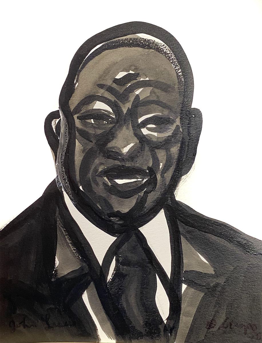 John Lewis portrait 9x12 giclee 0886 Dick Crispo