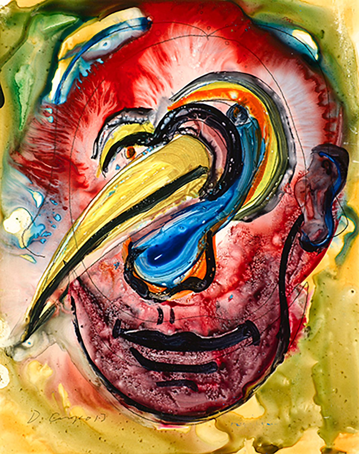 Masks No 12 giclee DSC2079 Dick Crispo