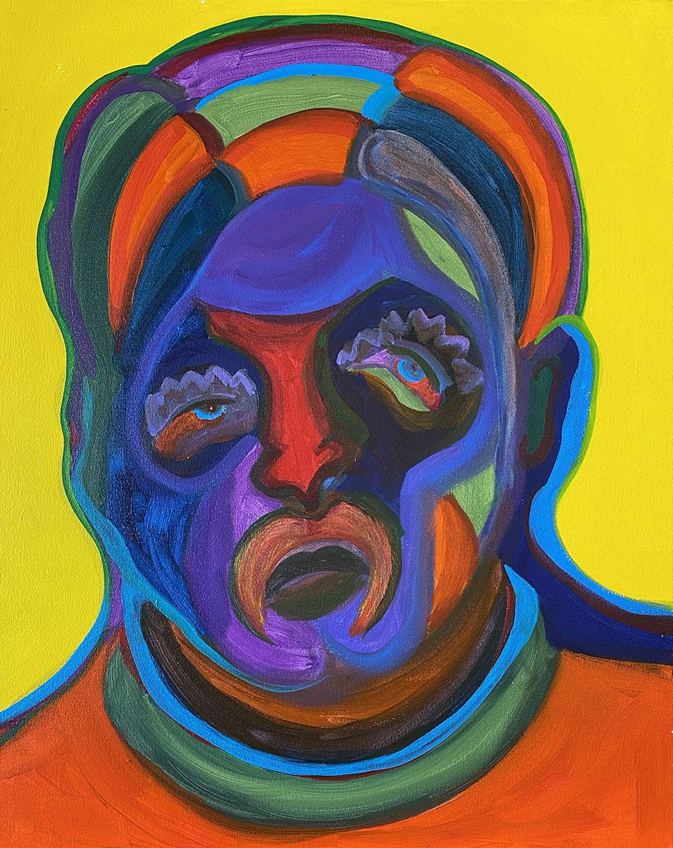 Masks No 6 acrylic 18x24 0997 Dick Crispo