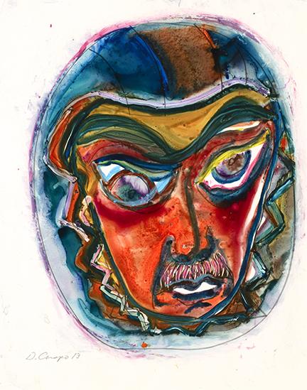 Masks Series #22 watercolor 22x30_DSC2075 Dick Crispo
