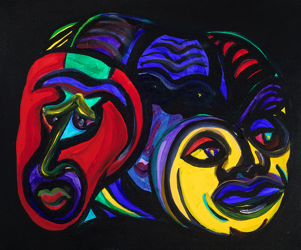Twins original acrylic 18x24 Dick Crispo