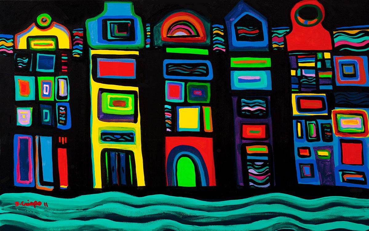Venice No 12 acrylic 3922 acrylic paintings by Dick Crispo