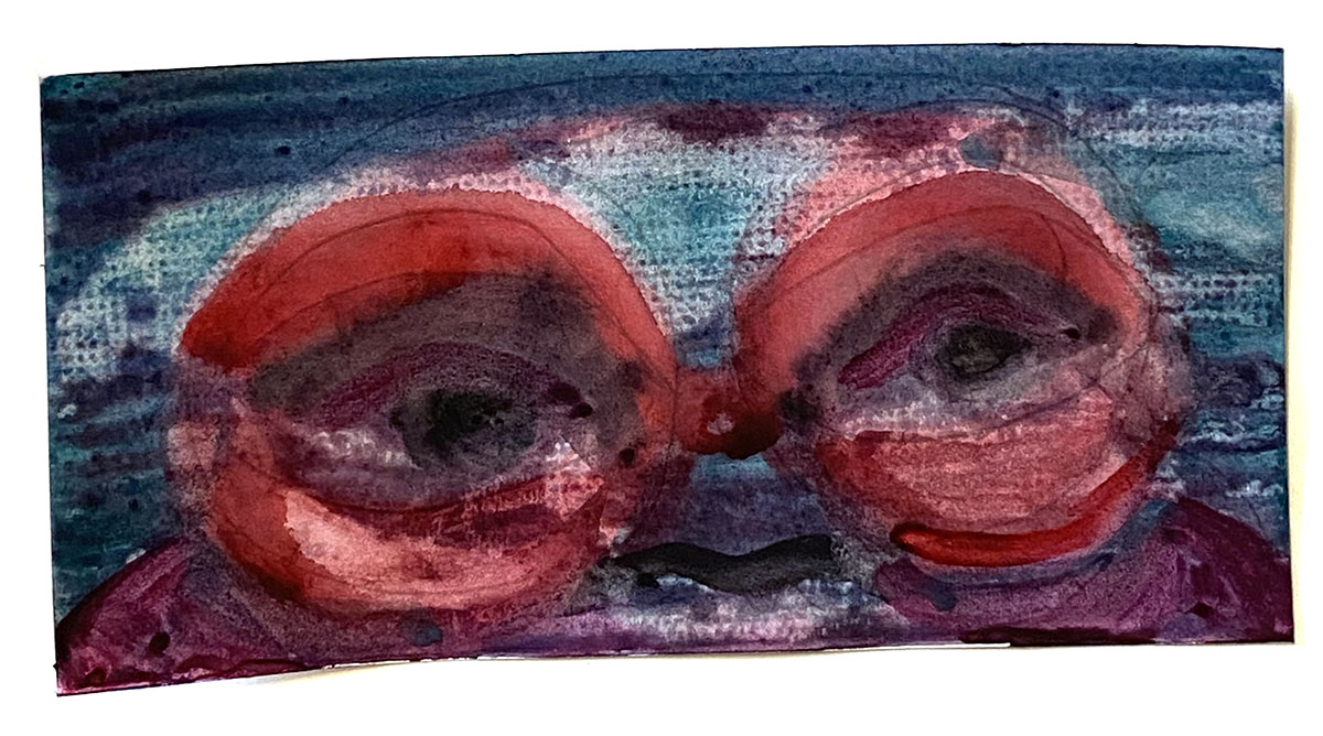 Watercolor No 4 Red Eye Lips_0848 Dick Crispo