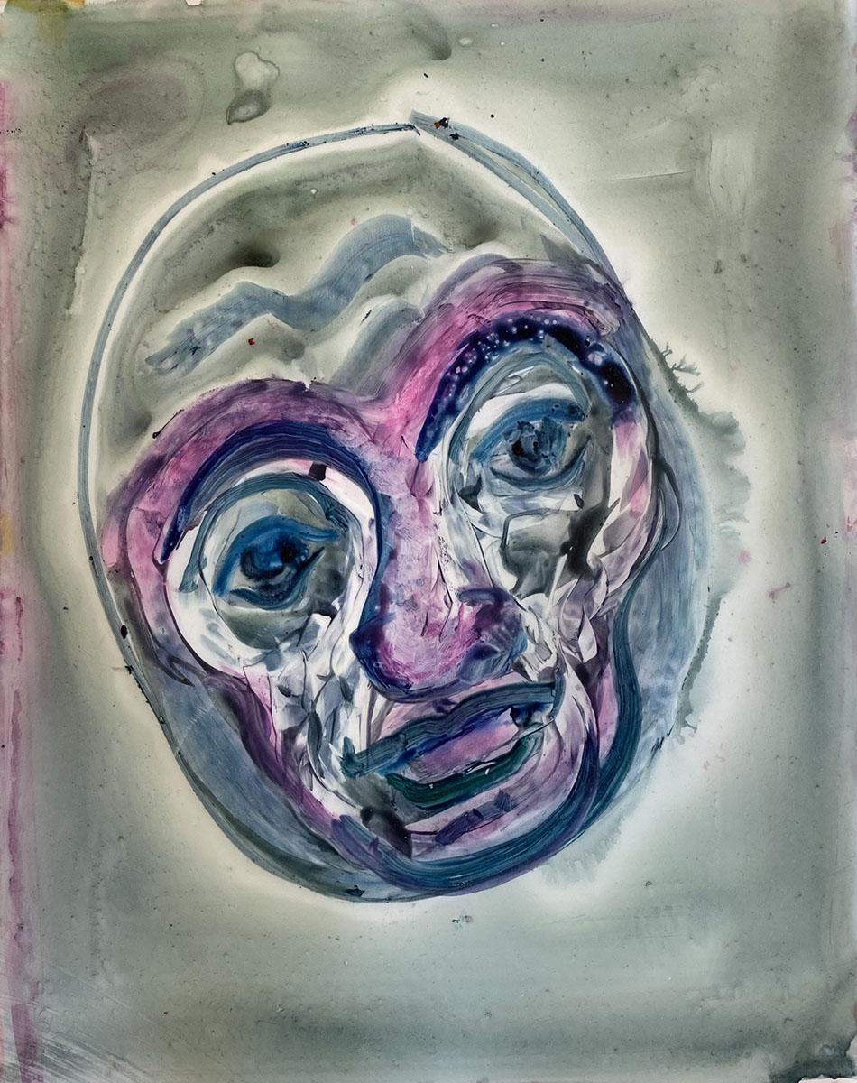 Watercolor No 6 Yupo 9x12 0882 Dick Crispo