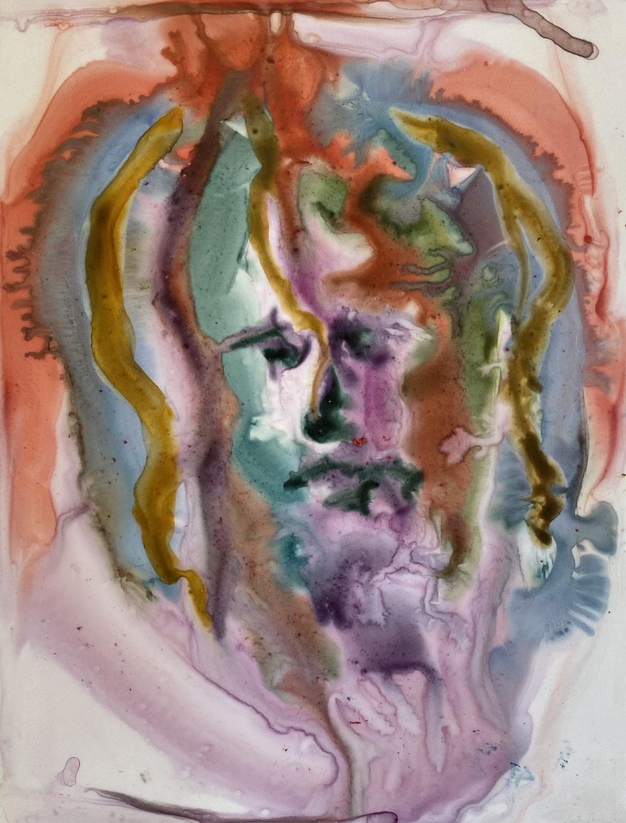 Watercolor No 7 Yupo 9x12 0883 Dick Crispo