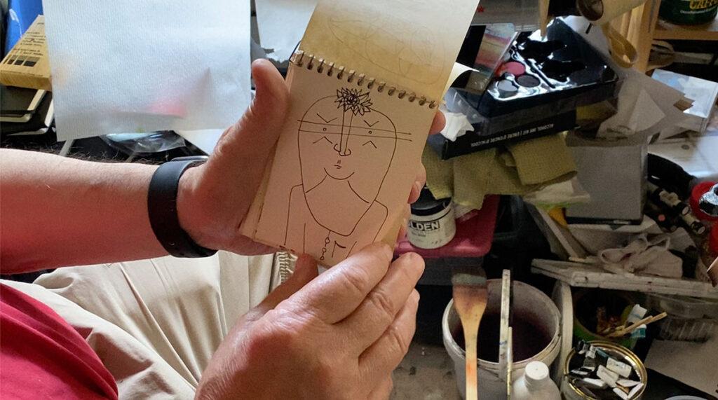 Dick Crispo art sketchbook 01
