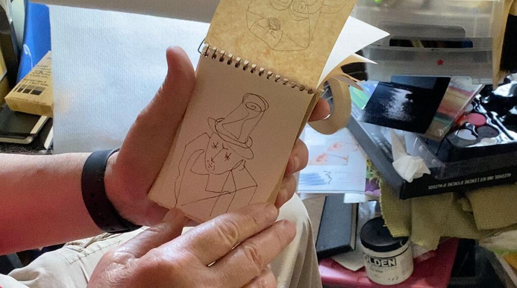 Dick Crispo art sketchbook 03