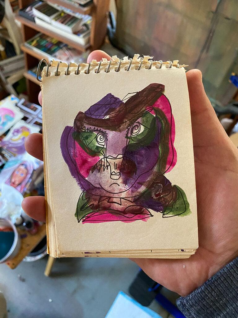 color sketch Dick Crispo