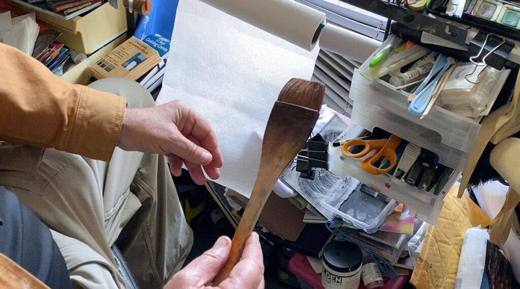 Japanese hake brush