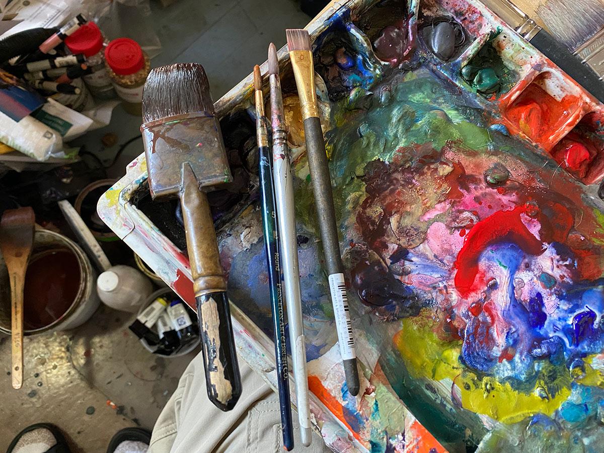 paint brushes - Dick Crispo